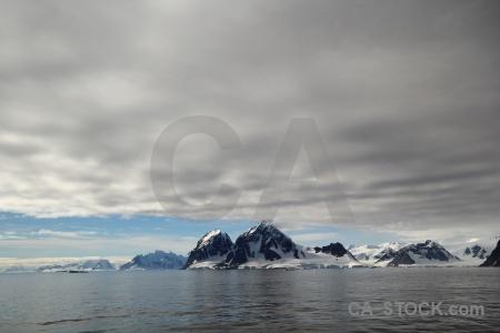 Cloud sky antarctica cruise adelaide island water.