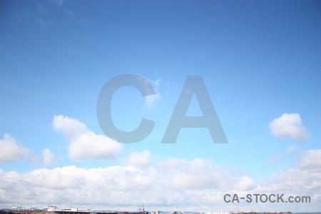 Cloud sky blue white.