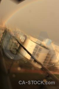 Cloud sky brown rainbow.