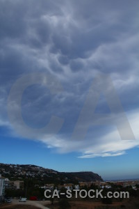 Cloud sky europe javea spain.