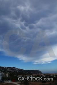 Cloud sky europe javea spain.