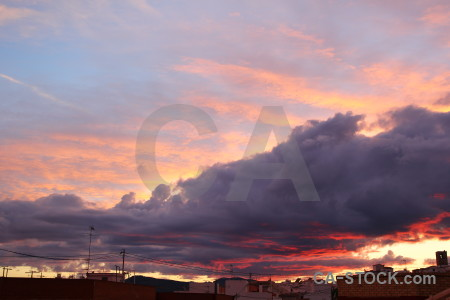 Cloud sky javea europe spain.