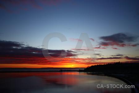 Cloud sky red blue sunrise.