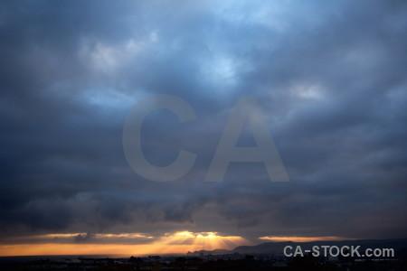 Cloud sky sunset sunrise spain.