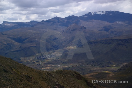 Cloud south america andes colca valley grass.