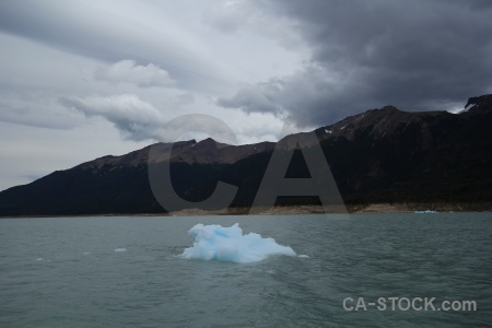 Cloud south america perito moreno lake argentino.