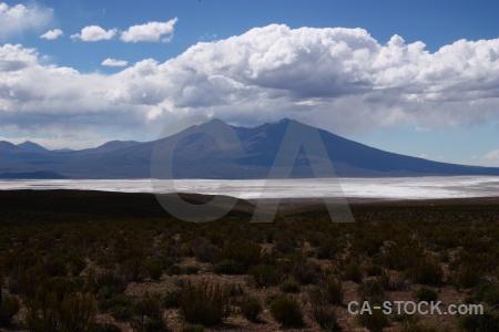 Cloud south america salar de chiguana sky salt flat.