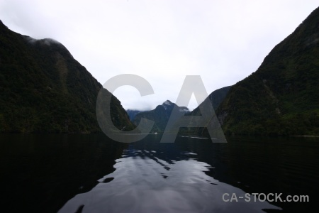 Cloud south island fiordland mountain sound.