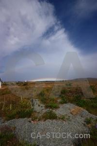 Cloud south island rainbow landscape field.