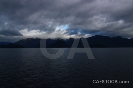 Cloud south island sky mountain lake manapouri.