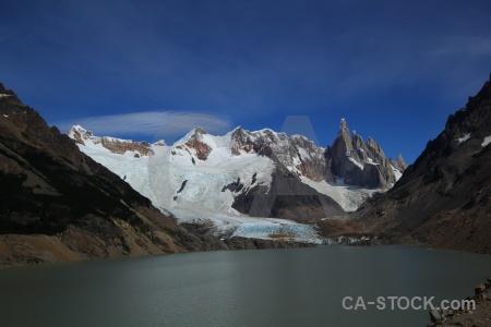 Cloud southern patagonian ice field el chalten rock terminus.