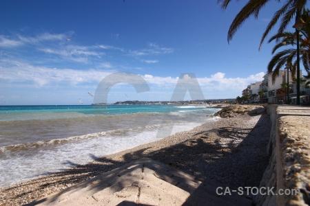 Cloud spain sky palm tree javea.