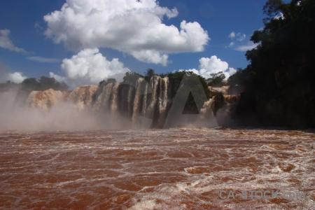 Cloud spray unesco south america iguazu falls.