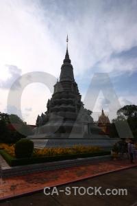 Cloud stupa sky southeast asia norodom suramarit.