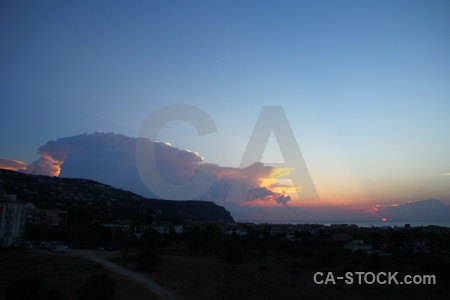Cloud sunrise sunset javea spain.