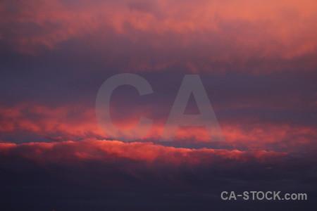 Cloud sunset sky javea spain.