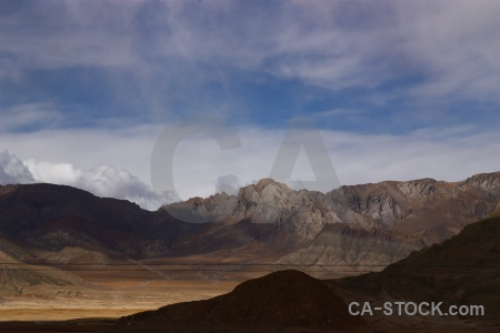 Cloud tibet friendship highway altitude mountain.