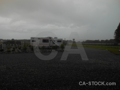 Cloud tree campervan haast campsite.