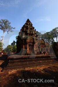 Cloud unesco stone prasat banteay srei buddhist.
