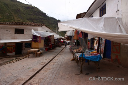 Cloud urubamba valley inca andes market.