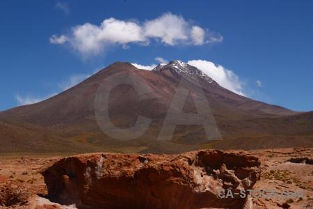 Cloud volcano altitude bolivia sky.