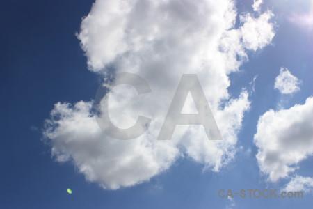 Cloud white sky blue.
