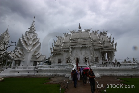 Cloud white temple thailand sky asia.