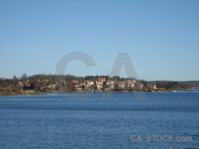 Coast building village karlskrona europe.