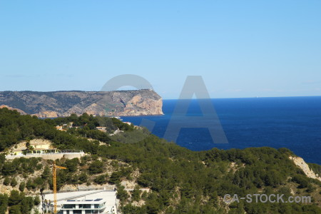 Coast europe cliff javea spain.
