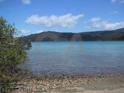 Coast landscape blue.