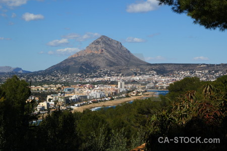 Coast spain javea europe sea.