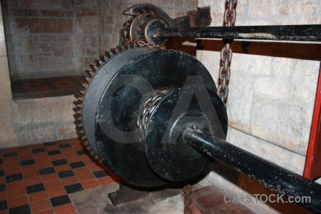 Cog object scientific metal chain.