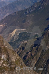 Colca valley rock canyon altitude andes.