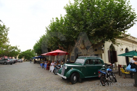 Colonia del sacramento building vehicle road uruguay.