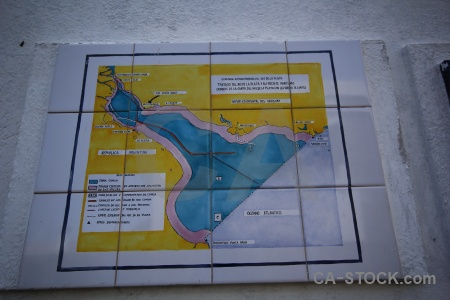 Colonia del sacramento south america map tile uruguay.