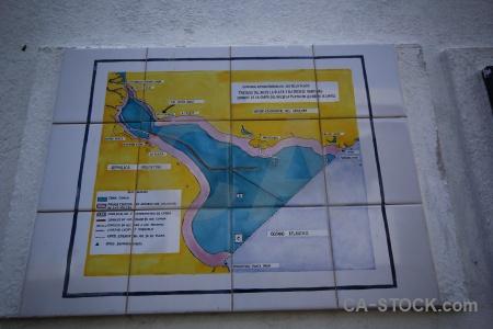 Colonia del sacramento south america map tile uruguay.