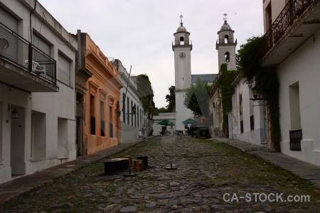 Colonia del sacramento uruguay tower basilica of sanctissimo sacrament building.