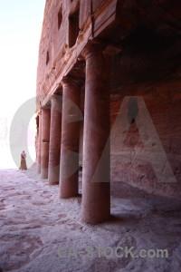 Column asia archaeological petra historic.