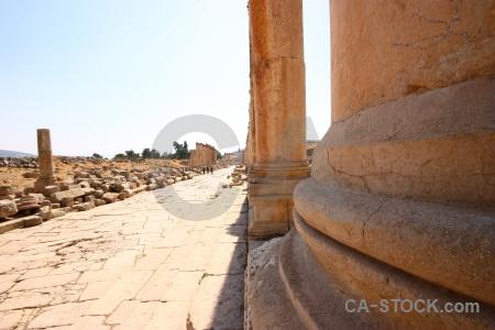 Column block gerasa jordan western asia.