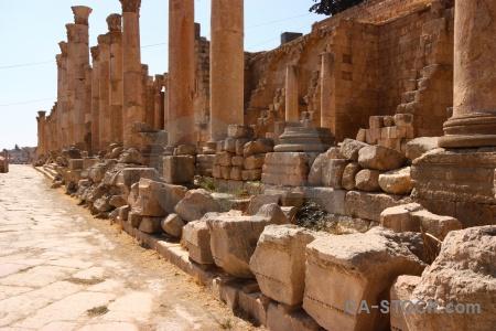 Column jarash jordan pillar stone.