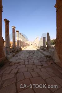Column jordan stone roman ruin.