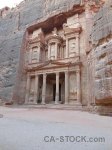 Column nabataeans ancient petra asia.
