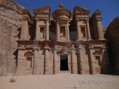 Column petra jordan tomb asia.