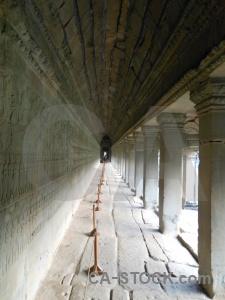 Column temple buddhism siem reap asia.