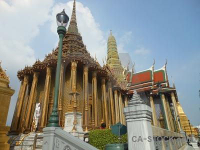 Column temple sky asia thailand.