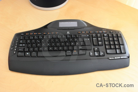 Computer keyboard object.