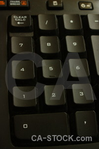 Computer object key keyboard black.