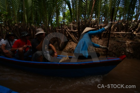 Con thoi son mekong delta hat southeast asia island.