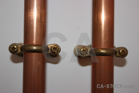 Copper screw pipe object scientific.