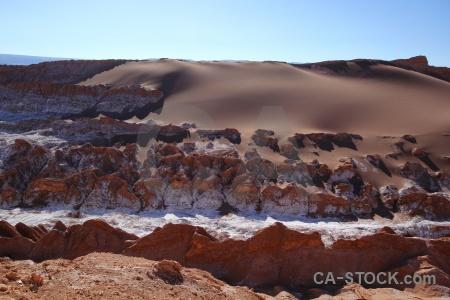 Cordillera de la sal salt landscape sky rock.